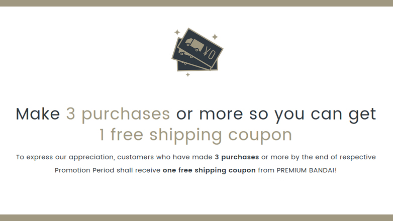 Make 3 purchases or more so you can get  1 free shipping coupon