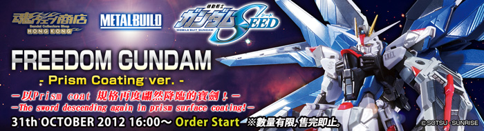 Tamashii Web Shop Hong Kong Premium Bandai Hong Kong  METAL BUILD FREEDOM GUNDAM Prism Coating ver.