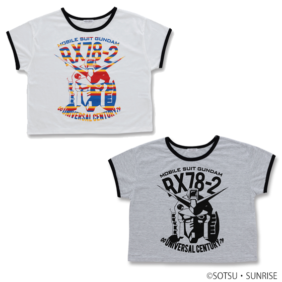 RX-78-2 MOBILE SUIT GUNDAM CROPPED TEE  [2017年5月發送]
