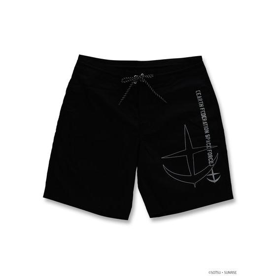E.F.S.F. MOBILE SUIT GUNDAM SHORTS BLACK (M SIZE)