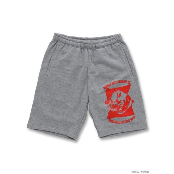 GUNDAM MOBILE SUIT / CHAR'S ZAKU II MOBILE SUIT GUNDAM SWEAT SHORTS