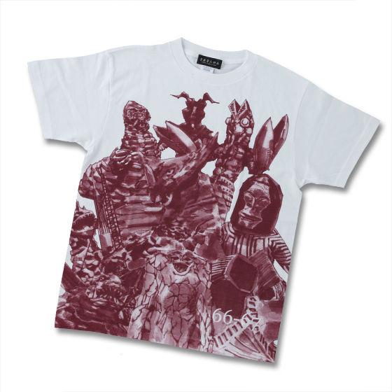 菅原芳人計畫 鹹蛋超人怪獣 T-shirt(酒紅色)