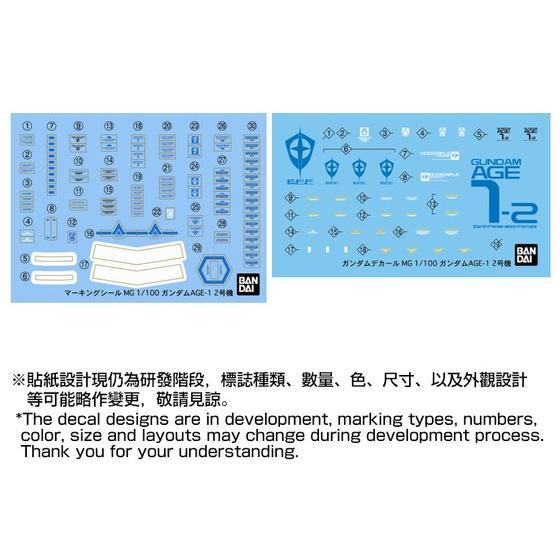 MG 1/100 GUNDAM AGE-1F/2 【PB Showroom 限量再販!】