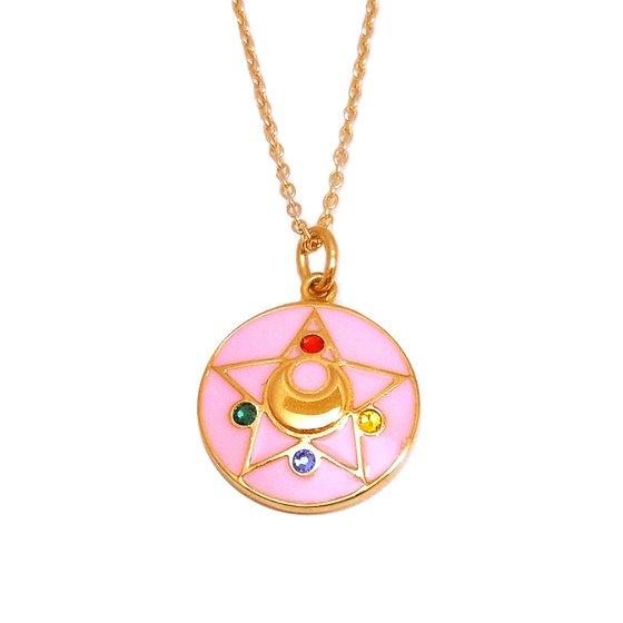 Sailor moon R Crystal brooch design Silver925 pendant(Color)