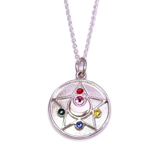 Sailor moon R Crystal brooch design Silver925 pendant [Nov 2014 Delivery]