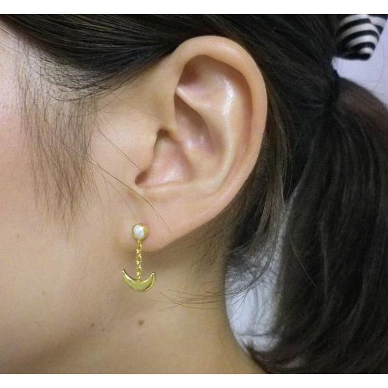 Sailor moon Silver925 pierce Gold coarting [2016年4月發送]