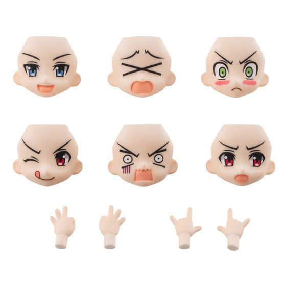AQUA SHOOTERS! FACE PARTS SET 02