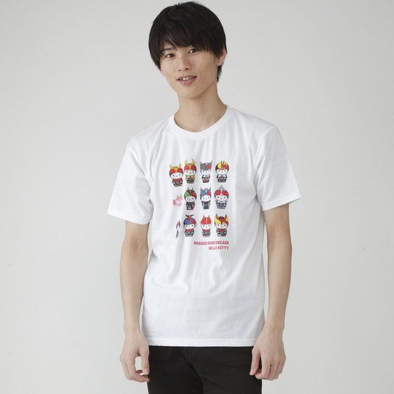 幪面超人帝騎 X HELLO KITTY聯名  彩色T-SHIRT