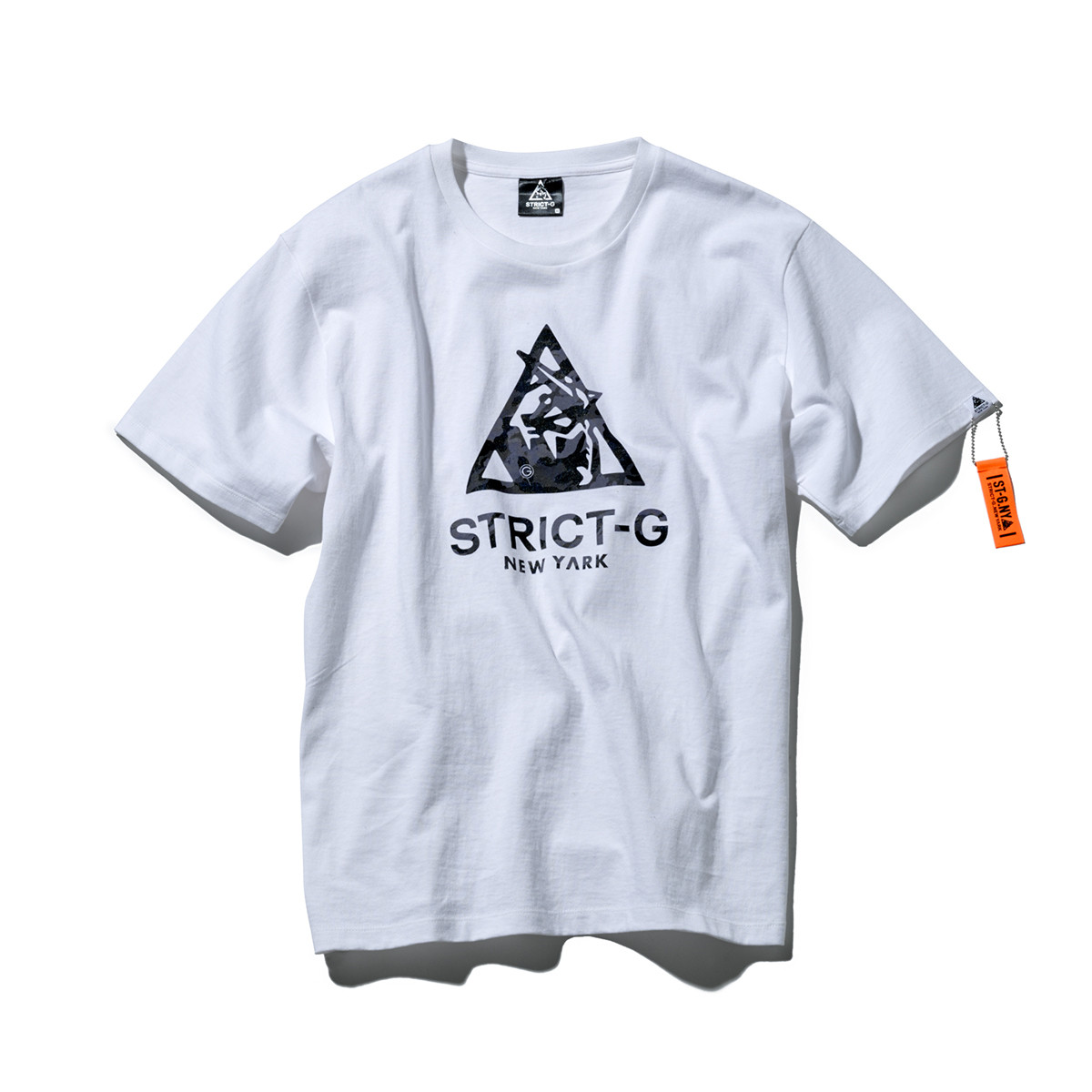 STRICT-G NEW YARK CAMOUFLAGE TRIANGLE LOGO T-SHIRT