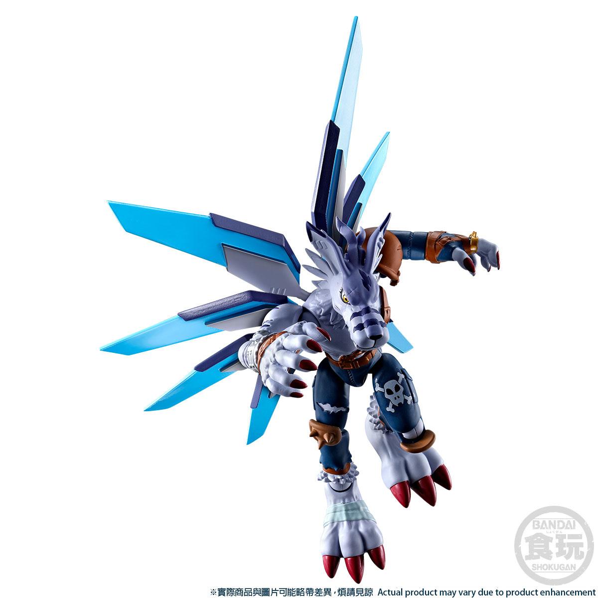 SHODO DIGIMON METALGREYMON & WEREGARURUMON W/O GUM [2021年11月發送]