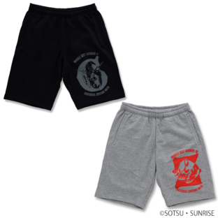 GUNDAM MOBILE SUIT / CHAR'S ZAKU II MOBILE SUIT GUNDAM SWEAT SHORTS  [2017年5月發送]
