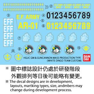 HGUC 1/144 GM & GUNCANNON MASS PRODUCTION TYPE  [2016年3月發送]