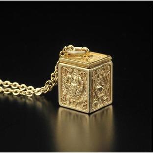 GOLD CLOTH BOX PENDANT ARIES