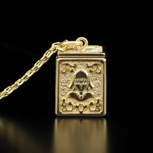 GOLD CLOTH BOX PENDANT VIRGO