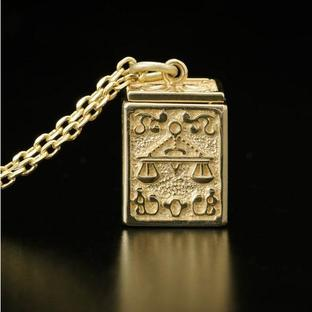 GOLD CLOTH BOX PENDANT LIBRA
