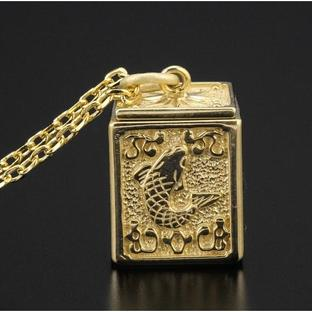 GOLD CLOTH BOX PENDANT PISCES