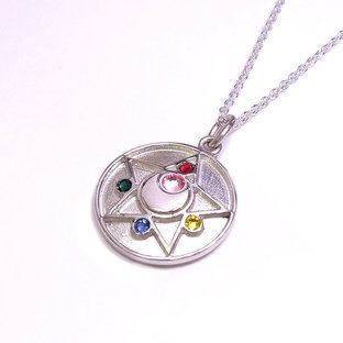 Sailor moon R Crystal brooch design Silver925 pendant [Oct 2014 Delivery]