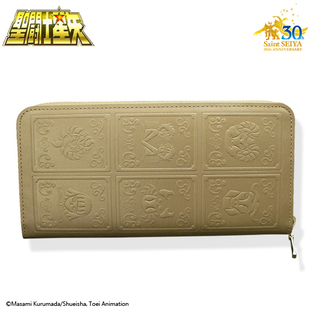 GOLD CLOTH BOX LEATHER WALLET