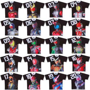 平成幪面超人20作品紀念商品 全覆蓋T-SHIRT