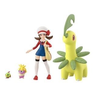 POKEMON SCALE WORLD JOUTO Lyra & Bayleef & Natu & Smoochum