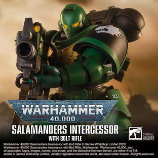 WARHAMMER 40,000 SALAMANDERS INTERCESSOR WITH BOLT RIFLE