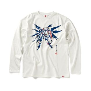 STRICT-G JAPAN 「GUNDAM SEED」 L/S T-SHIRT BRUSH PAINTING FREEDOM GUNDAM