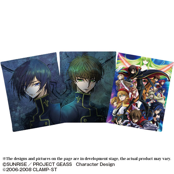 CODE GEASS 10TH ANNIVERSARY MEMORY MUSEUM 3 PCS SET