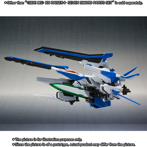METAL ROBOT SPIRITS 〈SIDE MS〉 XN RAISER + SEVEN SWORD PARTS SET