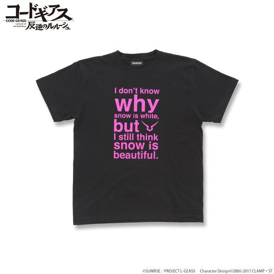 CODE GEASS Lelouch of the Rebellion T-shirts with English words Lelouch