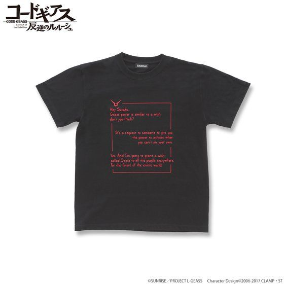 CODE GEASS Lelouch of the Rebellion T-shirts with English words ZERO