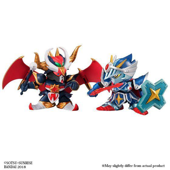 GASHAPON SENSHI F EX05 FA KNIGHT GUNDAM & BLACK DRAGON