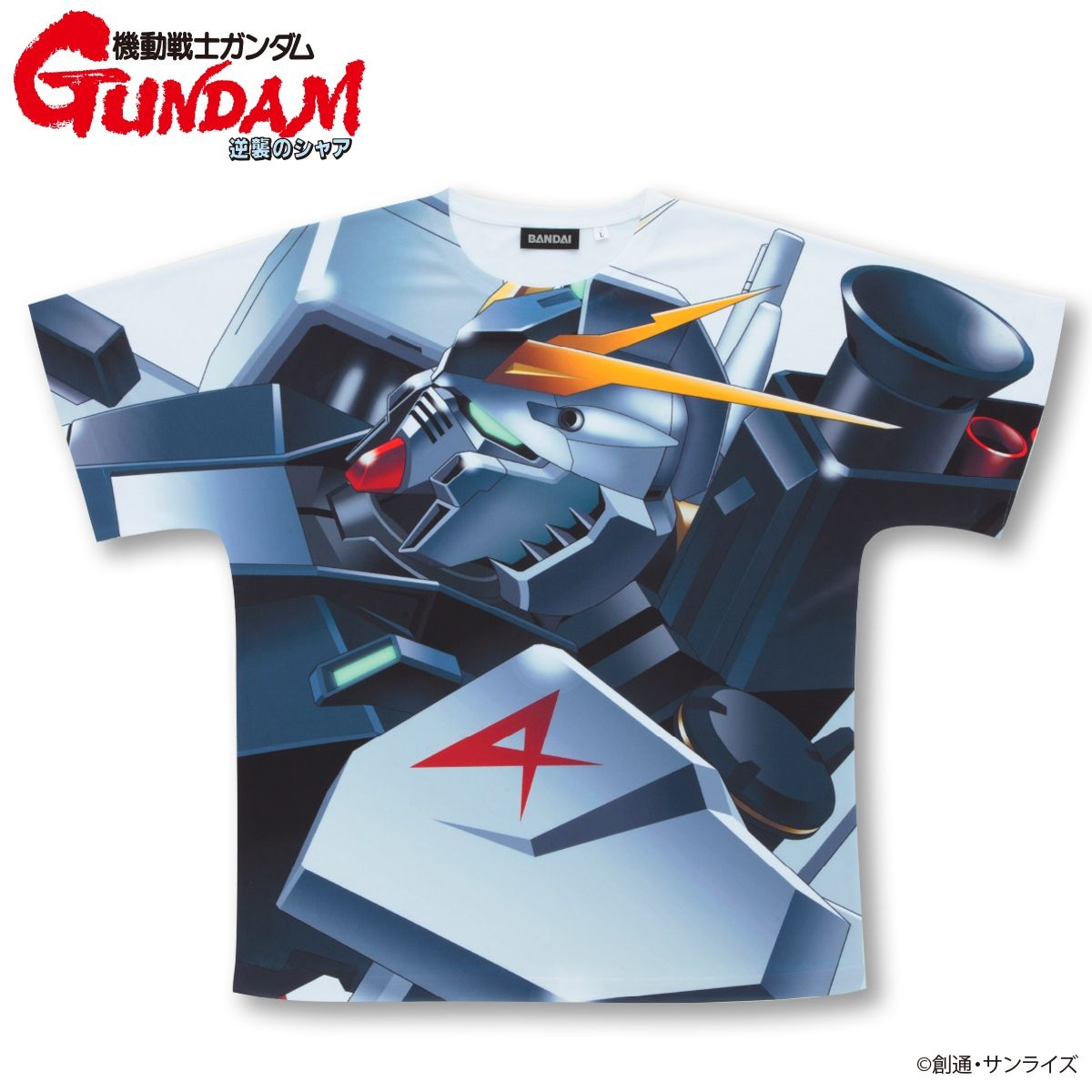 Mobile Suit Gundam Char's Counterattack Full Panel T-shirt  RX-93