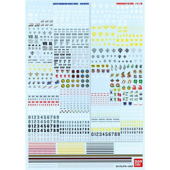 GUNDAM DECAL DX 01 【One Year War】[2018年11月發送]