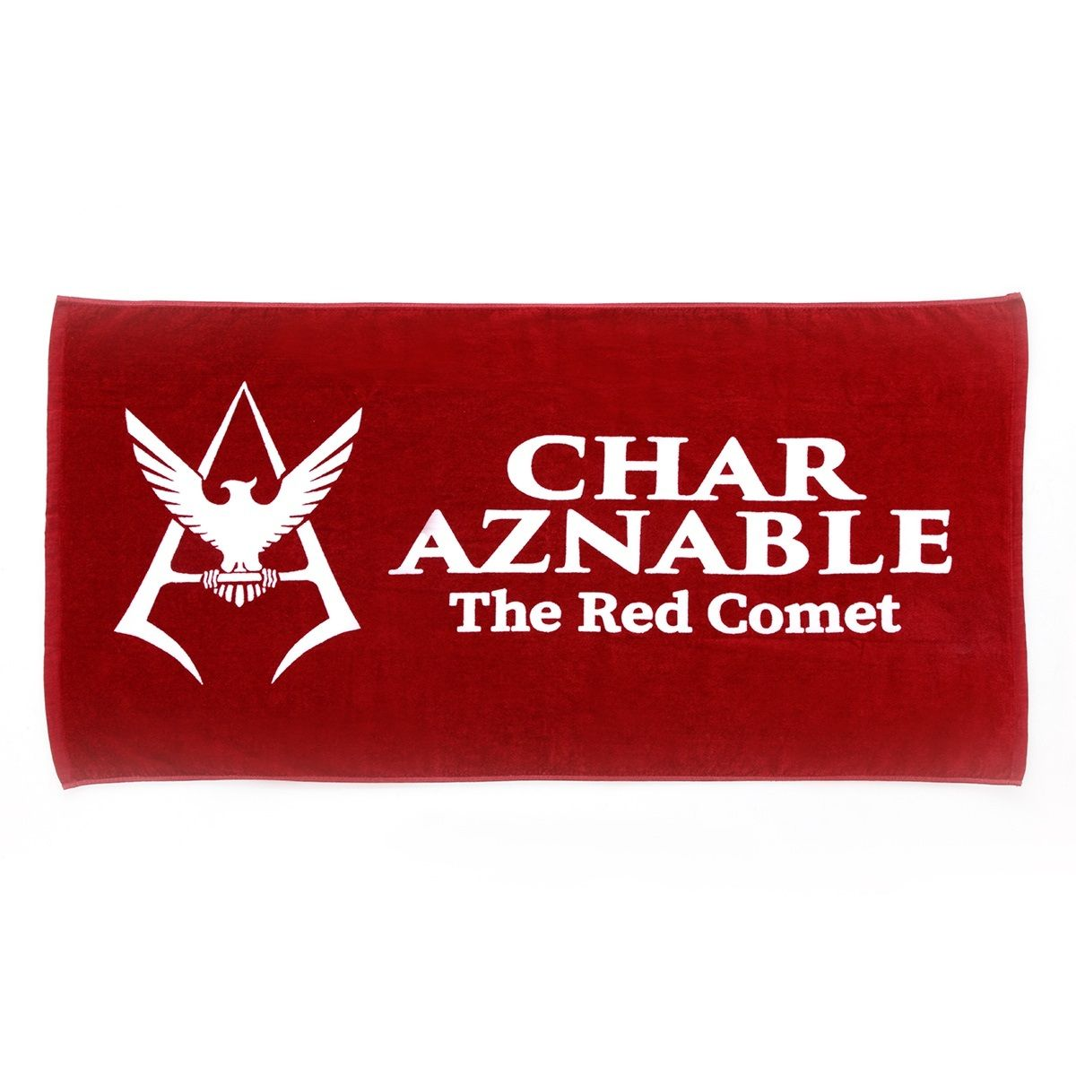 Mobile Suit Gundam Char Aznable Logo Bath Towel