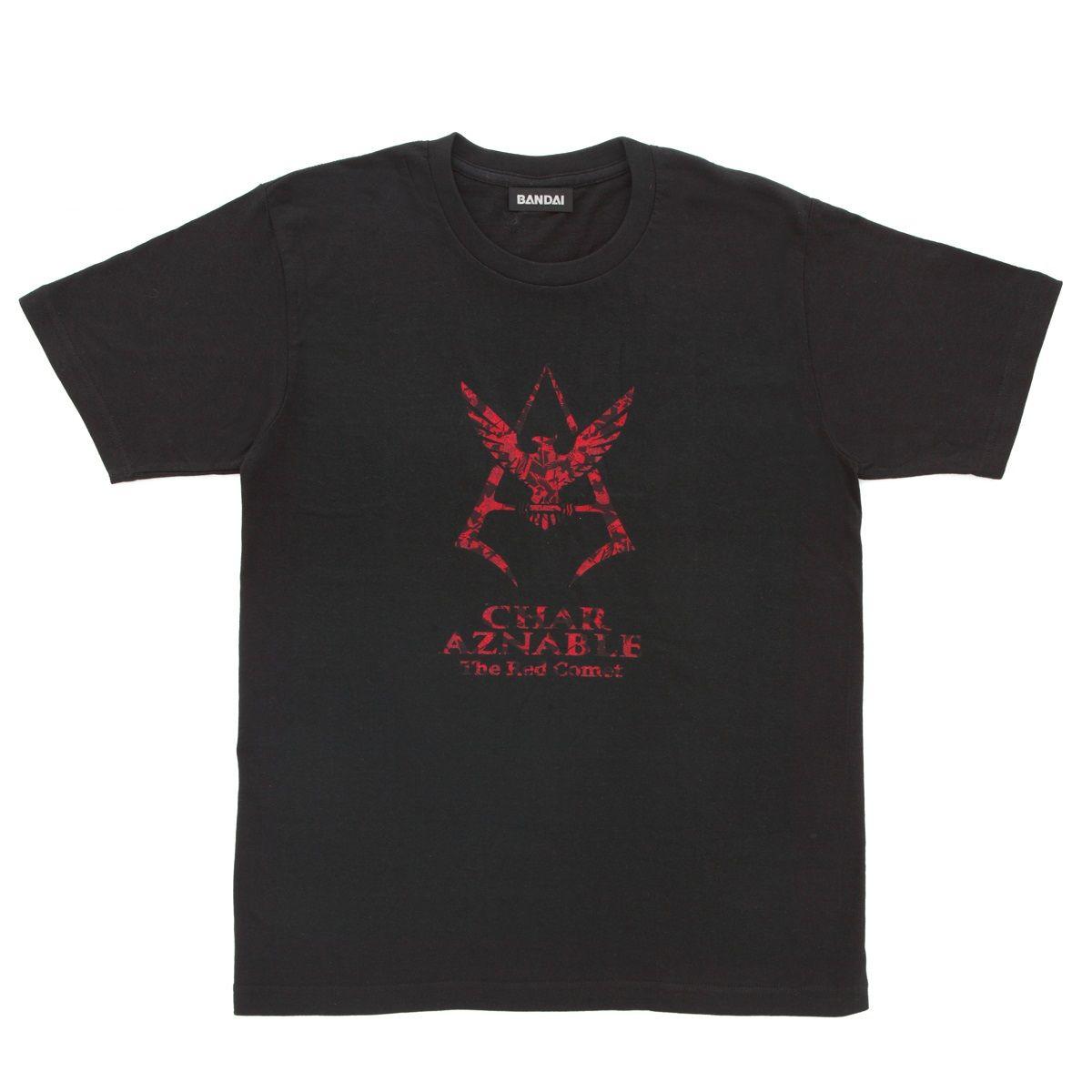 Mobile Suit Gundam Camouflage Pattern Char Aznable Emblem T-shirt