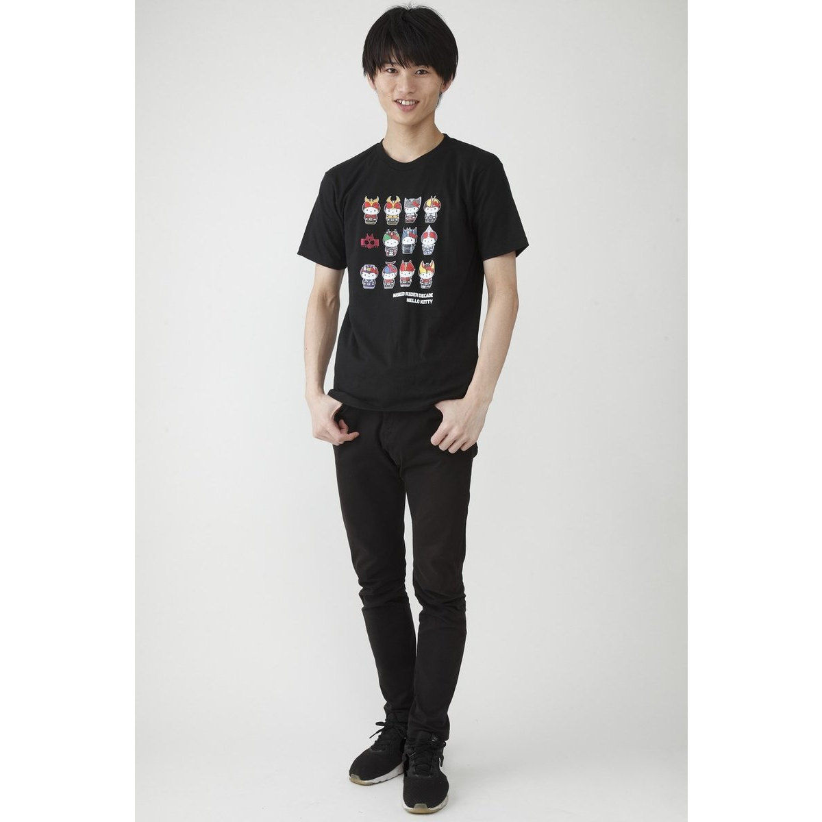 Full-color Printed T-shirt—Kamen Rider Decade/Hello Kitty Collaboration