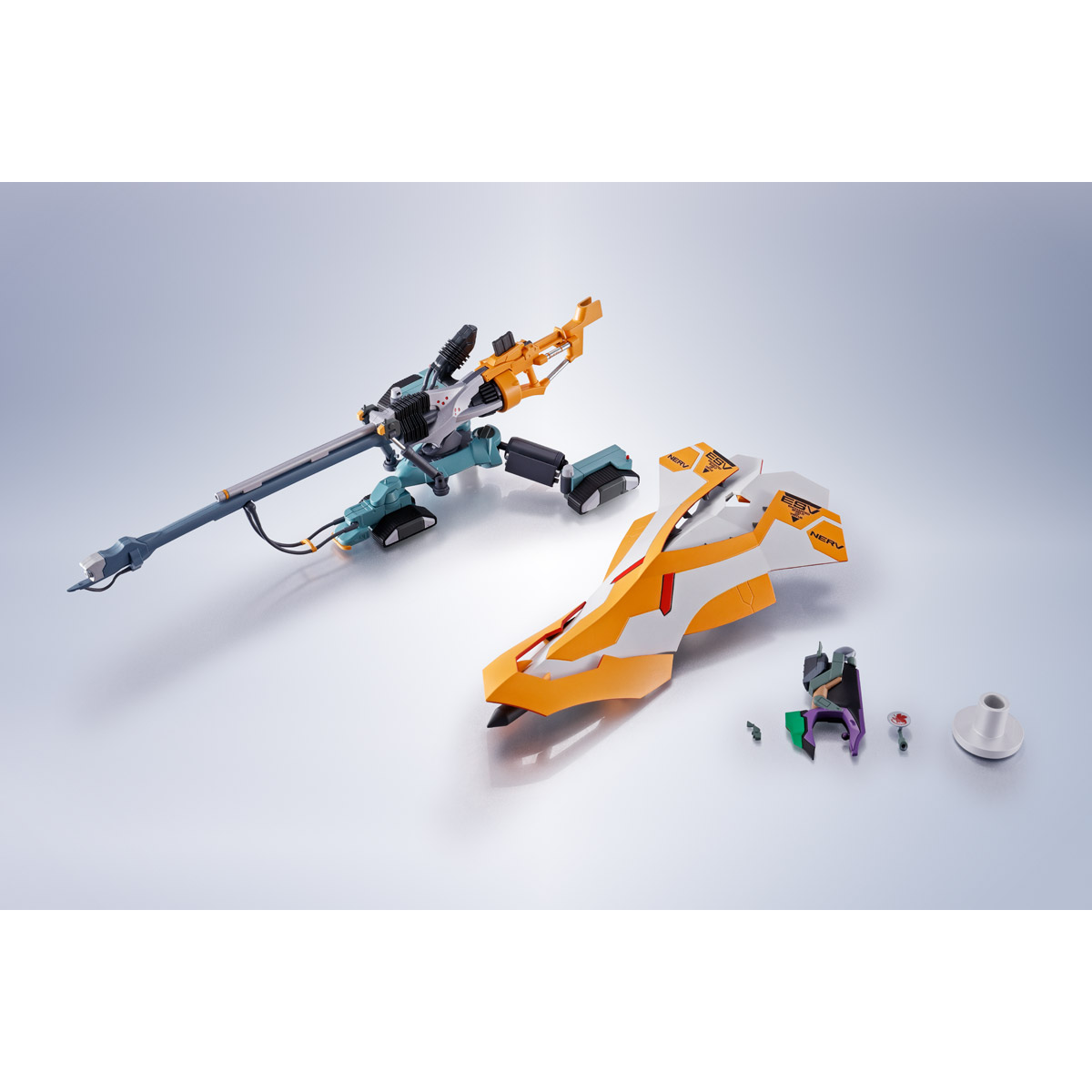 THE ROBOT SPIRITS <SIDE EVA> OPERATION YASHIMA REPRODUCTION POSITRON CANNON +ESV+TYPE G COMPONENTS