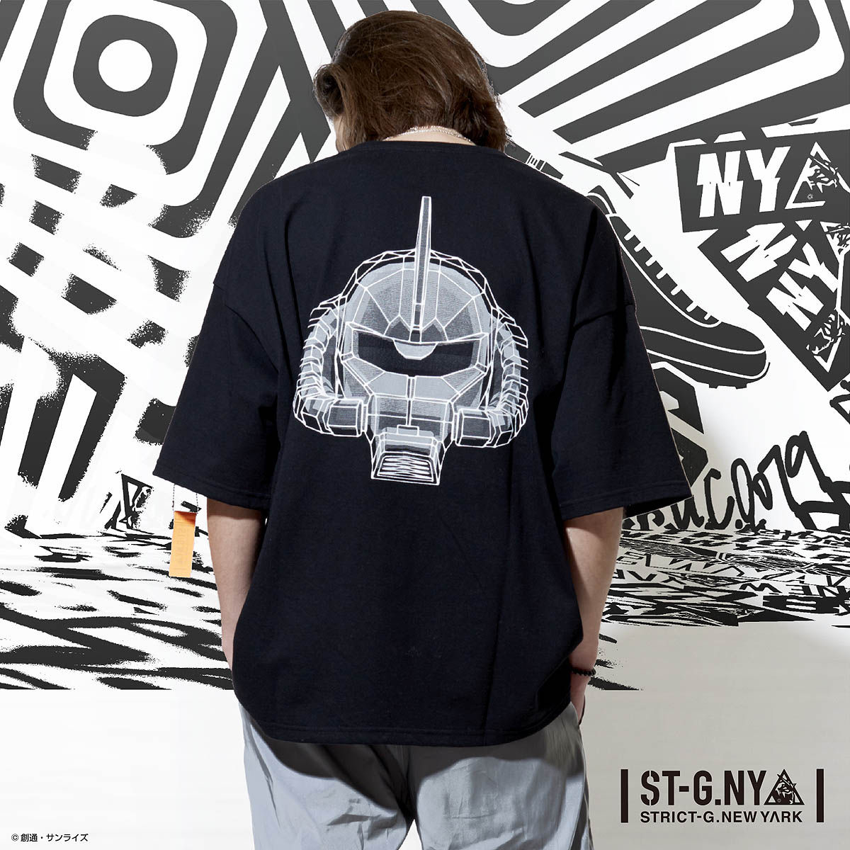 STRICT-G NEW YARK Char's Zaku II Oversized T-shirt