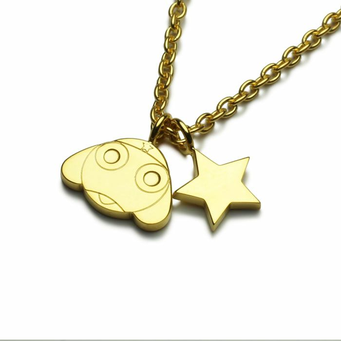 Keroro Platoon Plate-Type Necklaces—Sgt. Frog (Keroro Gunso)/JAM HOME MADE Collaboration