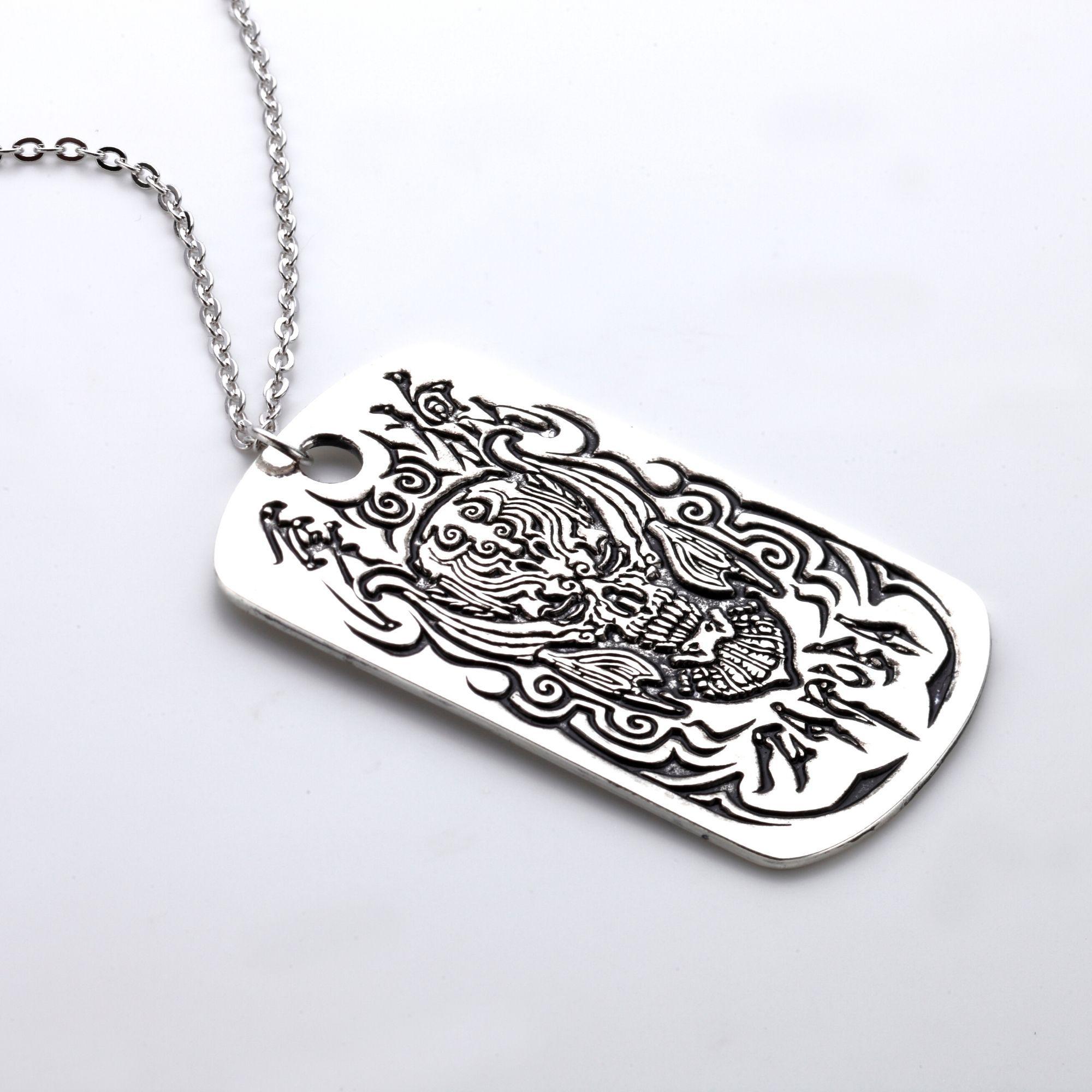 Zaruba Dog Tag Pendant Necklace—GARO
