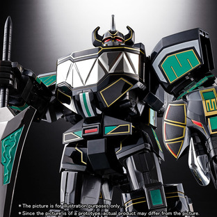SOUL OF CHOGOKIN GX-72B MEGAZORD (BLACK VERSION)