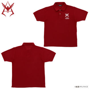 Mobile Suit Gundam Char Aznable Emblem Polo Shirt