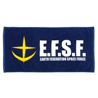Mobile Suit Gundam Earth Federation Space Force Bath Towel