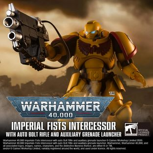 WARHAMMER 40,000 IMPERIAL FISTS INTERCESSOR WITH AUTO BOLT RIFLE AND AUXILIARY GRENADE LAUNCHER