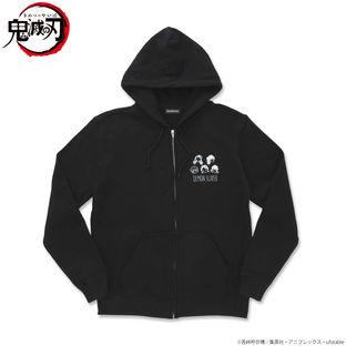 Super-Deformed Characters Black Zip Hoodie—Demon Slayer: Kimetsu no Yaiba