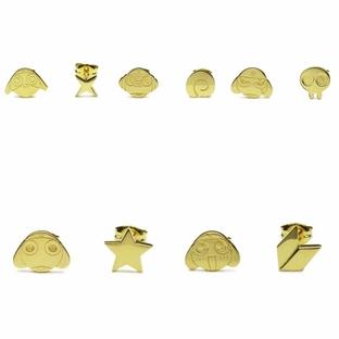Keroro Platoon Plate-Type Pierced Earrings—Sgt. Frog (Keroro Gunso)/JAM HOME MADE Collaboration