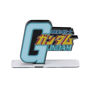 Mega Size of Acrylic Logo Display EX Mobile Suit Gundam