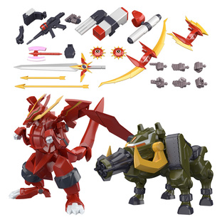 SUPER MINIPLA GEAR FIGHTER DENDOH FULL ARMOR DENDOH OPTION PARTS & GATLING BOAR & DRAGON FLARE SET W/O GUM