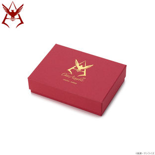 Mobile Suit Gundam Char Aznable Golden Emblem Passcase