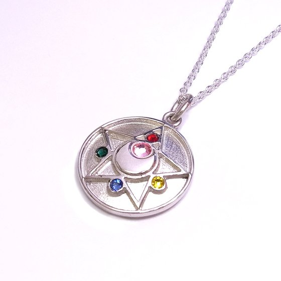 Sailor moon R Crystal brooch design Silver925 pendant [Sep 2014 Delivery]